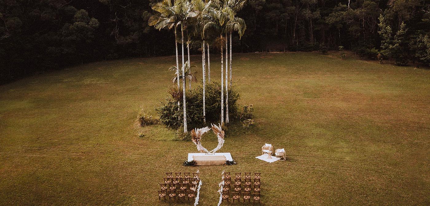 rainforest lakes wedding venue cairns